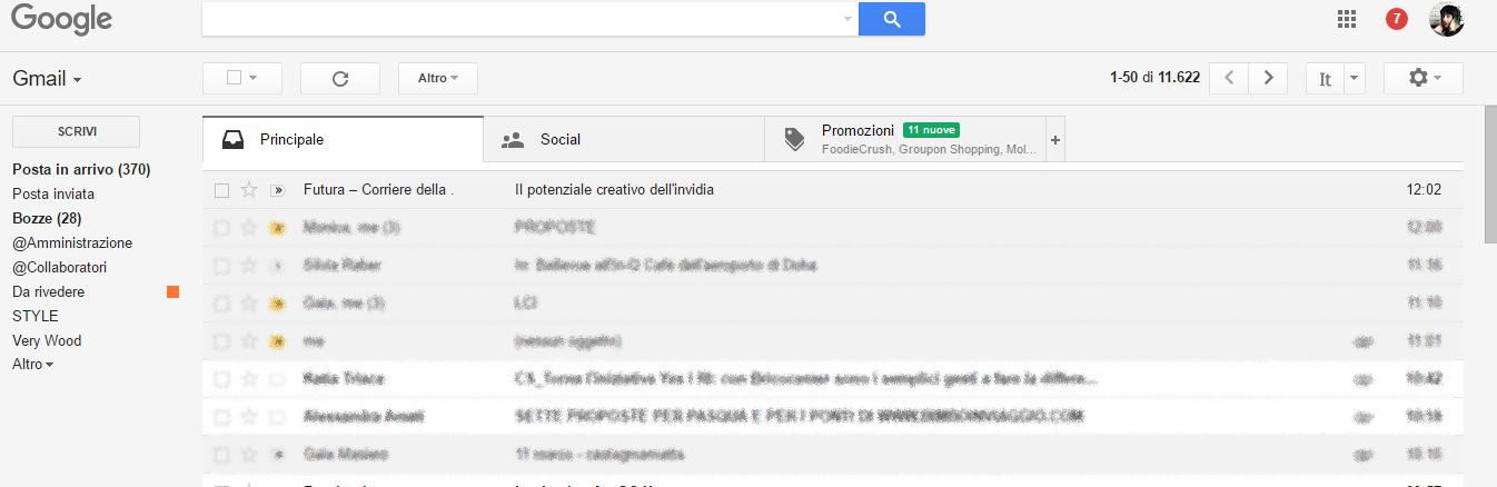 Come cancellare le email promozioni su gmail